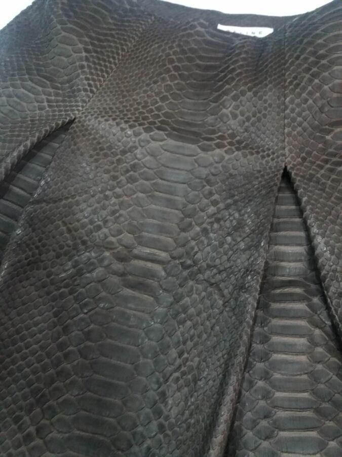 Celine юбка из натуральной кожи питона