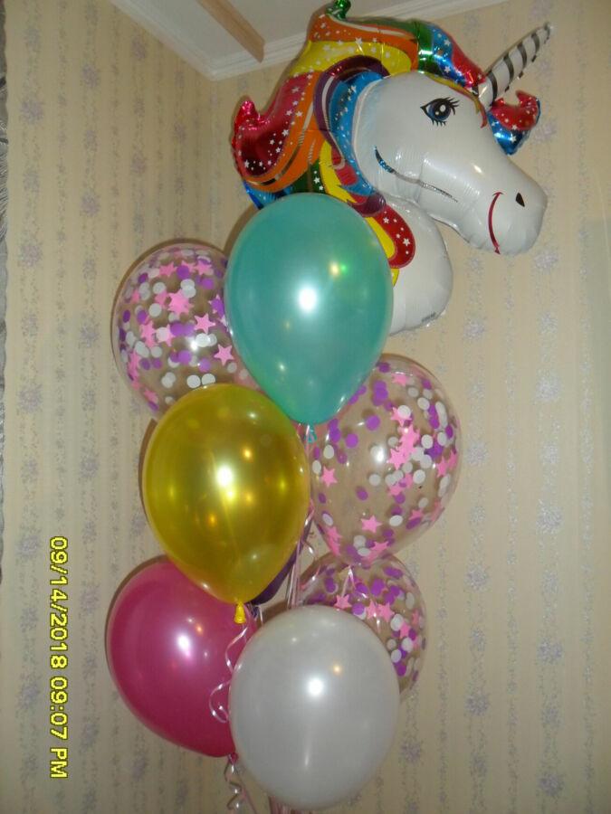 Гелиевые шарики единорог