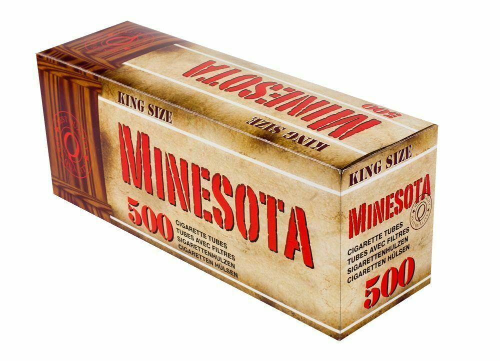 Гильзы для сигарет Minesota 500 шт, Сигаретные гильзы Minesota 10 000