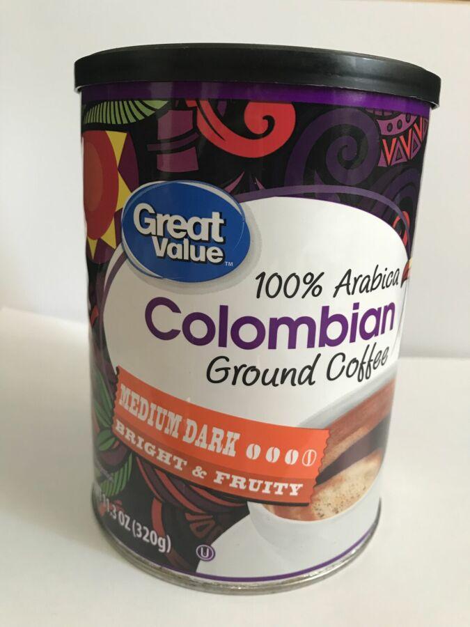Кофе сша Great Value Colombian 320 г молотый, кава америки