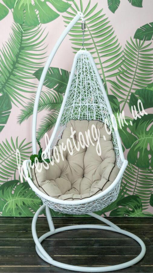 Подвесное кресло кокон Леди. Гамак в сад. Качеля плетёная- Kreslorotag