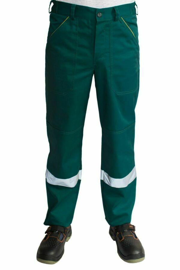 Рабочие мужские брюки зеленые