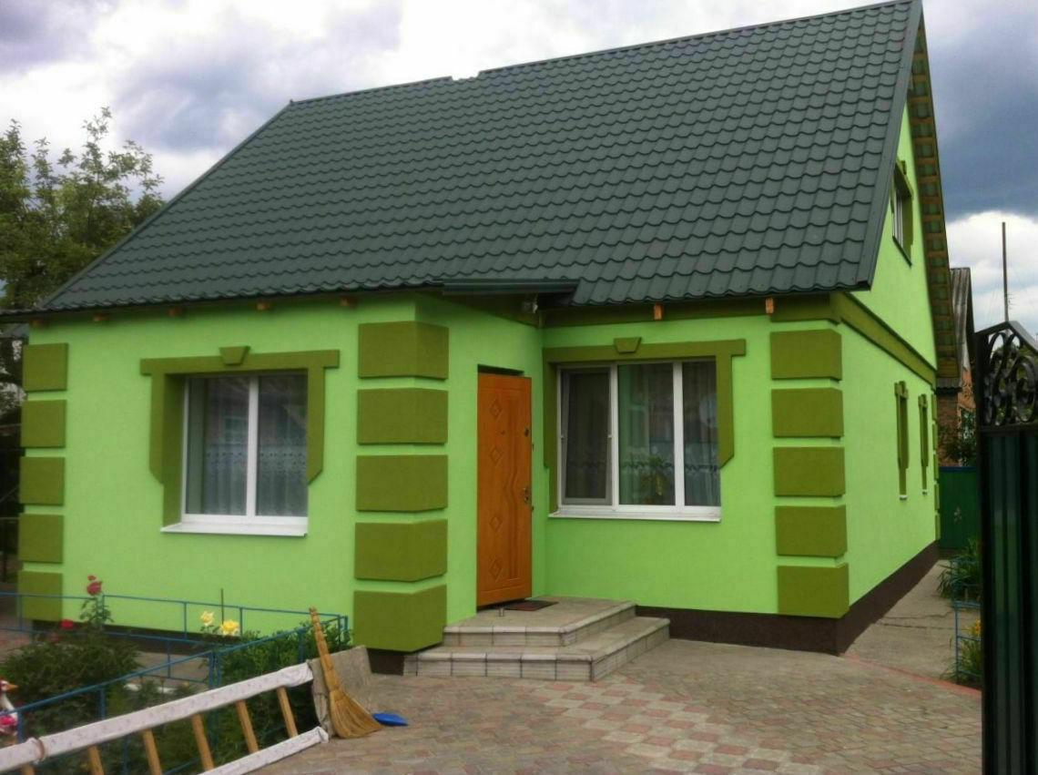 чем покрасить дом по пенопласту