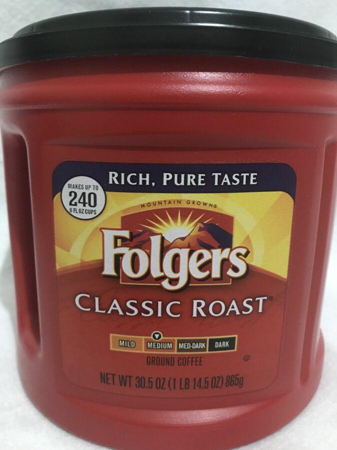 Кофе Folgers Classic 865гр млотый, кава Фолгерс из сша америки