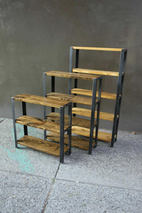 Мебель в стиле Loft (металл+дерево): стеллажи, полки,столы!