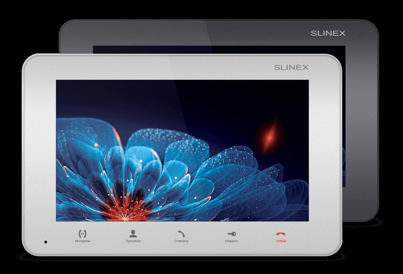 Комплект видеодомофон Slinex SM-07M  / Solo Graphite ОПТ и РОЗ