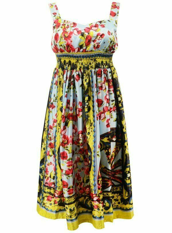 Платье сарафан Dolce & Gabbana шелковый в наличии
