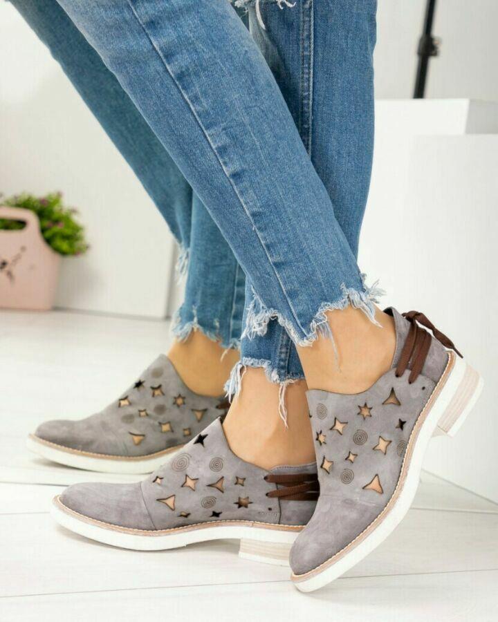 6aeed74ae75a26 5214 стильные ботинки с декоративной шнуровкой. натуральный брогирова