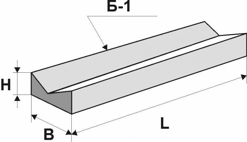Лоток прикромочный железобетонный б 2-22-75