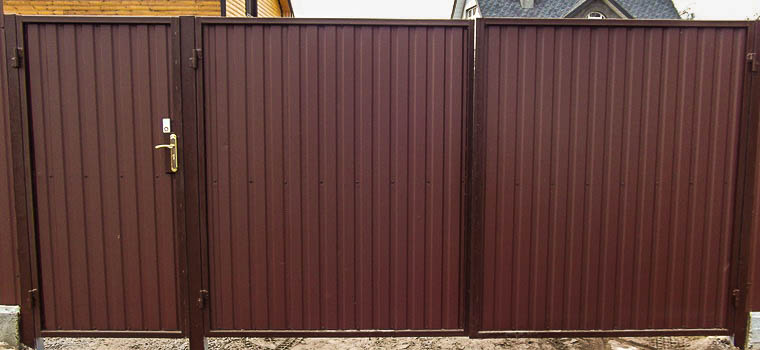 Ворота и калитки из металла, профнастила в Чернигове