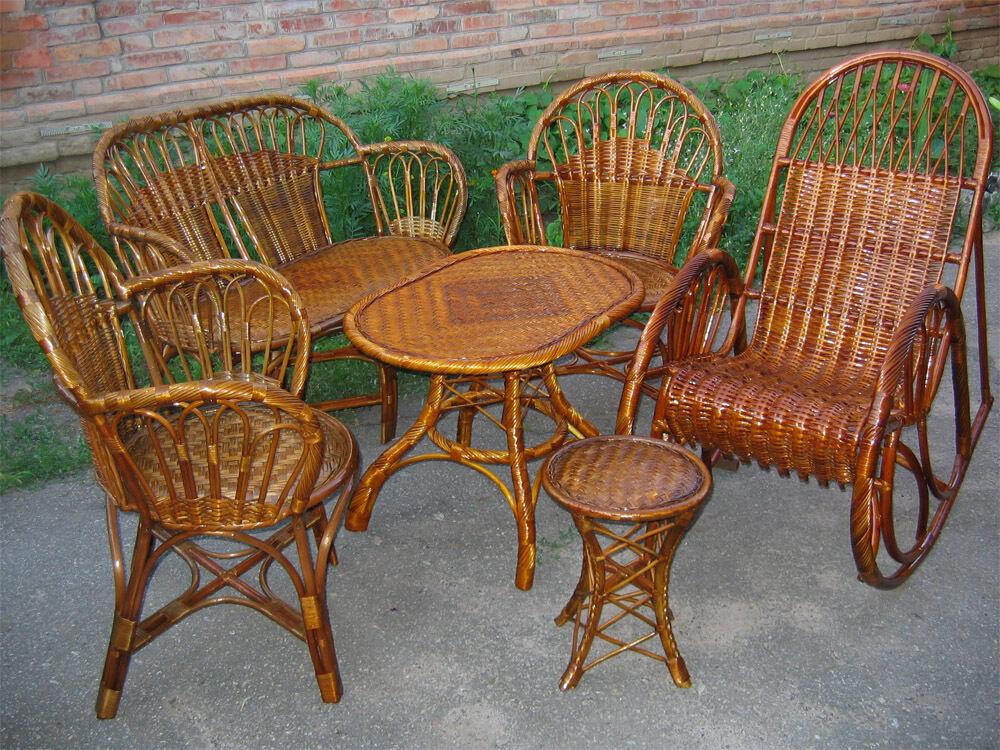 Изготовлю мебель плетеную из лозы.