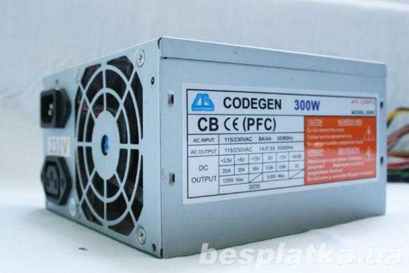Фото - Блок питания на системный блок ATX 300W б/у Codegen в хор состоянии