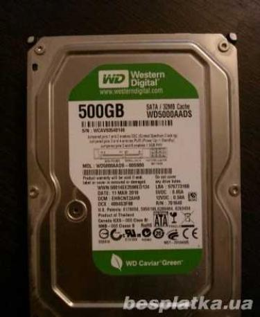 """Фото - Жесткий диск HDD 500 Gb SATA III 3.5"""" для ПК Seagate +WD идеалы"""