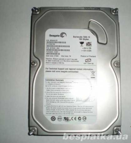 """Фото - Жесткий диск HDD 160Gb SEAGATE SATA 3,5"""" (ПК) с идеальной поверхностью"""