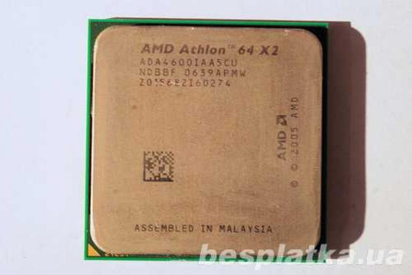 Фото - 2-ядерный процессор Socket AM2 AMD ATHLON X2 4600 + (2 ядра по 2.4Gh