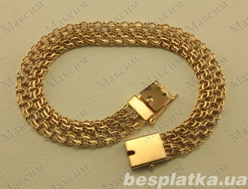 Массивные золотые браслеты женские