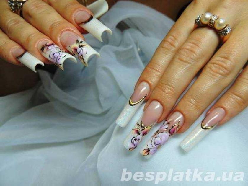 Наращивание ногтей с покрытием гель лаком