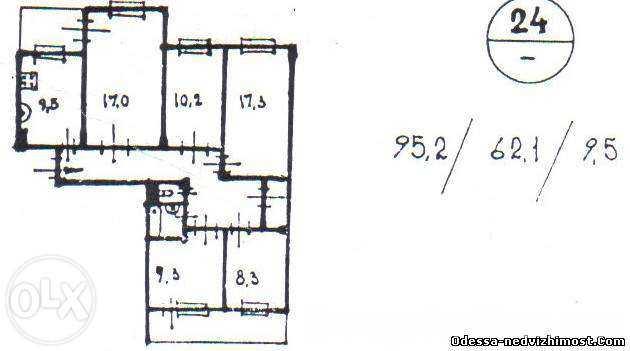 5 ком. квартира,  3\9, на Добровольского\Затонского-62000