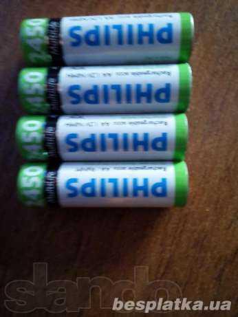 Аккумуляторы пальчиковые Philips 2450 маh 1.2v Multilife