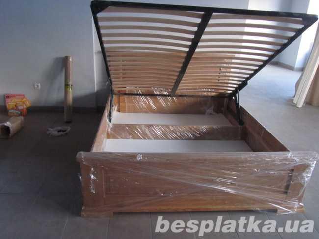 Ліжко з масиву дерева з підйомним механізмом від виробника