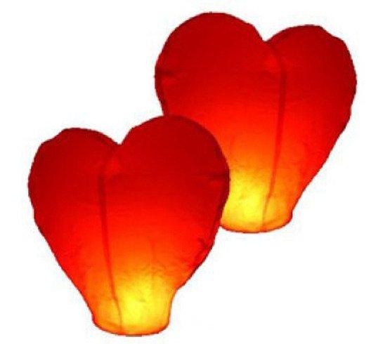 Небесные фонарики в форме сердца, купить, летающий фонарик, купить