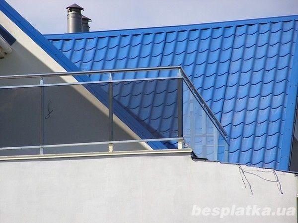 Стеклянные ограждения балконные, на террасу