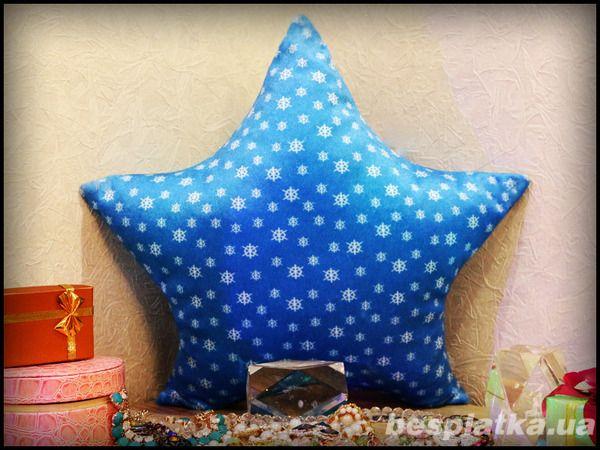 Светящаяся подушка в форме звезды - новогодние подарки 2016, для детей