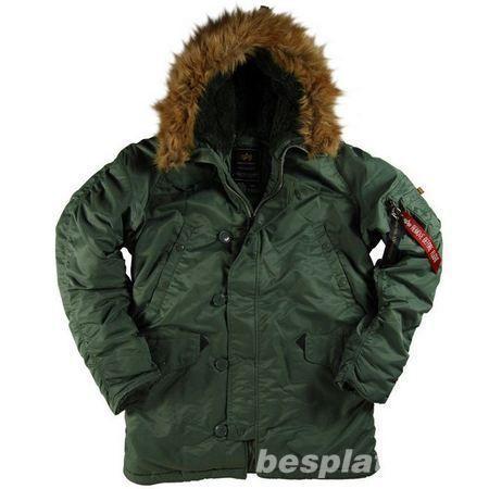 4329fe31b2927 Мужские зимние куртки ВВС США-N-3B Parka -