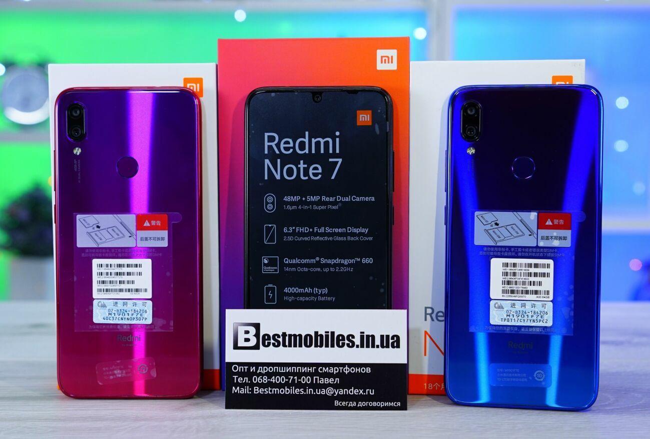 Xiaomi Redmi Note 7 3/32, 4/64 Global и другие модели, опт, гарантия.