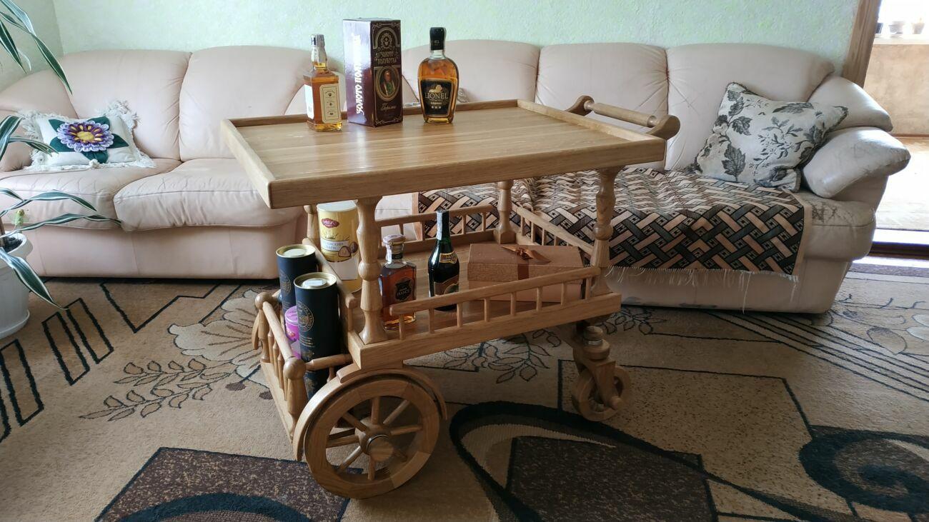 Стіл сервірувальний, стол сервировочний, бар на колесах