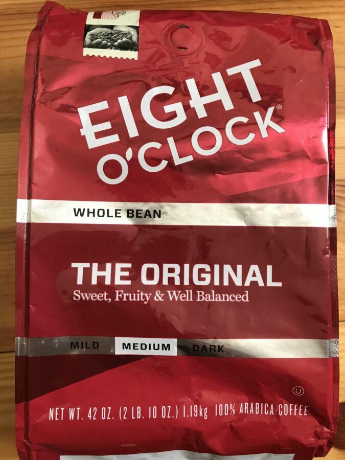 Кофе сша Eight O'clock Оriginal;1,19кг зерновой, кава з америки