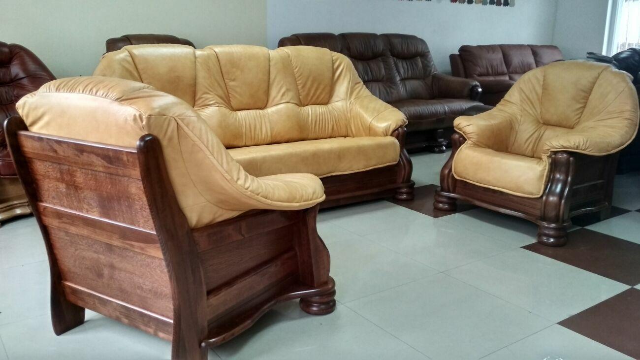 Новий шкіряний диван і два крісла Cabaro Ii - шкіряні меблі, набір
