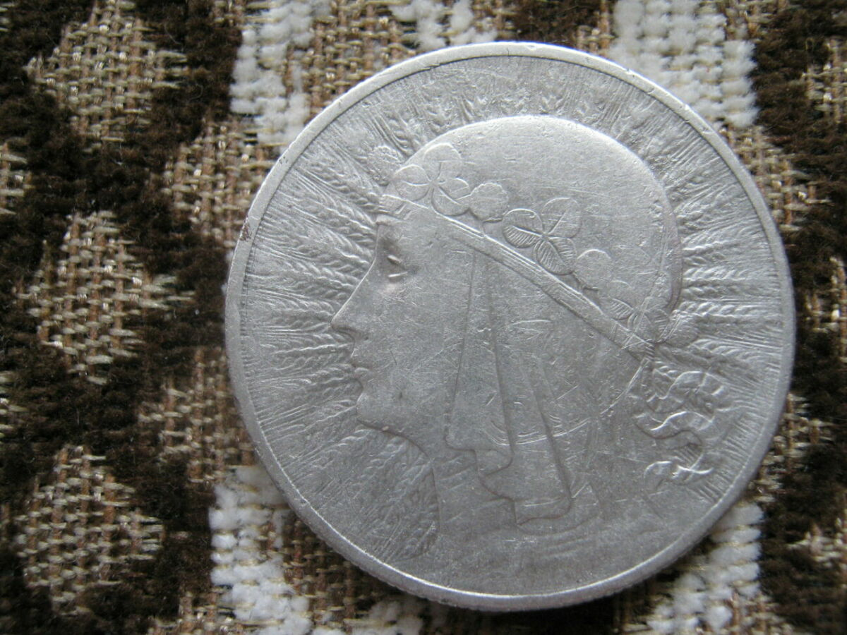 10 злотых 1932 г . серебро , польша .