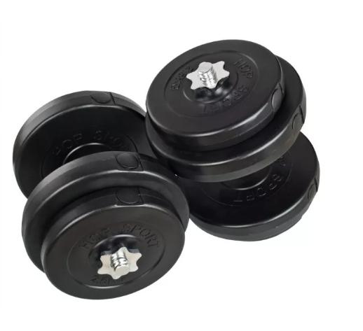 Гантели наборные Plenergy композитные в пластике 2x28 кг