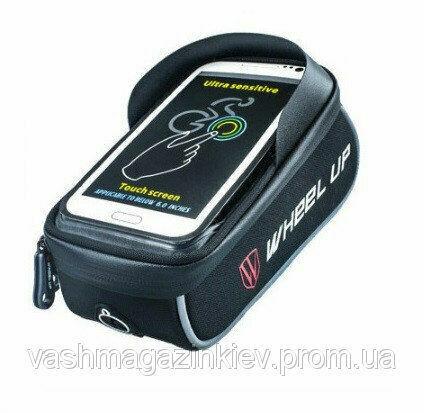 Сумка на раму велосипеда с отделом для смартфона (вс-103)