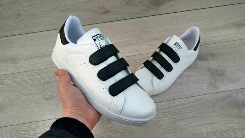 17cb0ca3d367 Хит 2019! женские кроссовки кеды Adidas Stan Smith на липучках белые