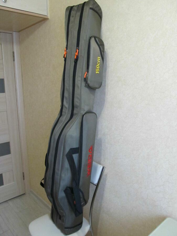 Плотный жесткий чехол для удочек удилищ спиннингов 150 см на 2 секции