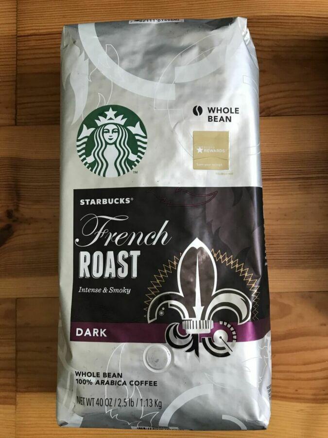 Кофе Starbucks зерновой French Roast 1,13кг/ кава старбакс сша америк