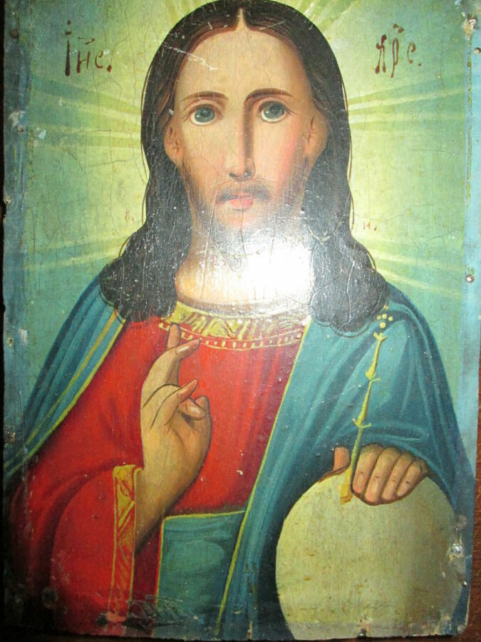 40971952c859c Господь. яркая икона,написана масляными красками.: 550 грн ...