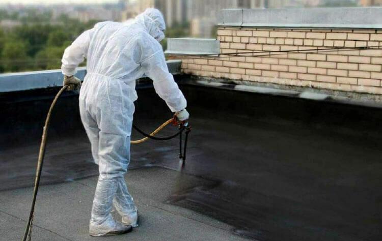 Гидроизоляция (ремонт) крыш любой сложности жидкой резиной