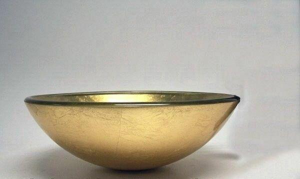Умывальник на столешницу Rea Bowl 91006 Gold 42 см.