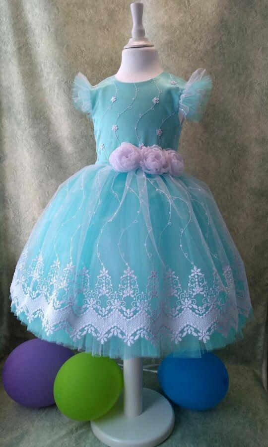 Нарядное платье для девочки, ручная работа