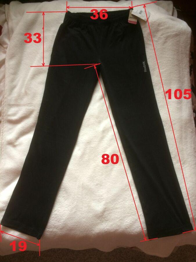 Штаны спортивные Reebok (черные) размер S - 100% котон - оригинал