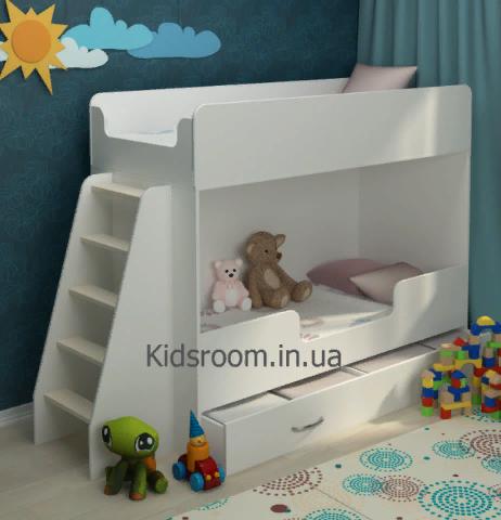 Двухъярусная кровать. кровать чердак. детская комната. двоярусне ліжко