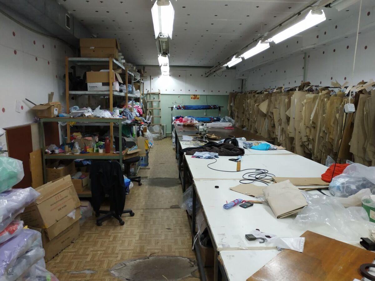 Продажа действующего швейного цеха и склада готовой продукции