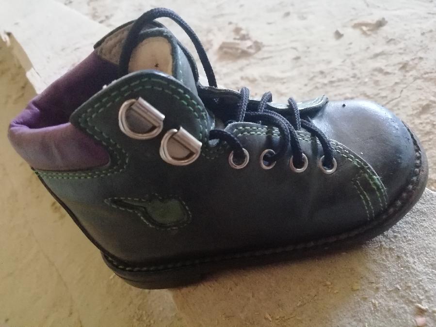 Ортопедичні шкіряні чобітки з каблуком томаса,
