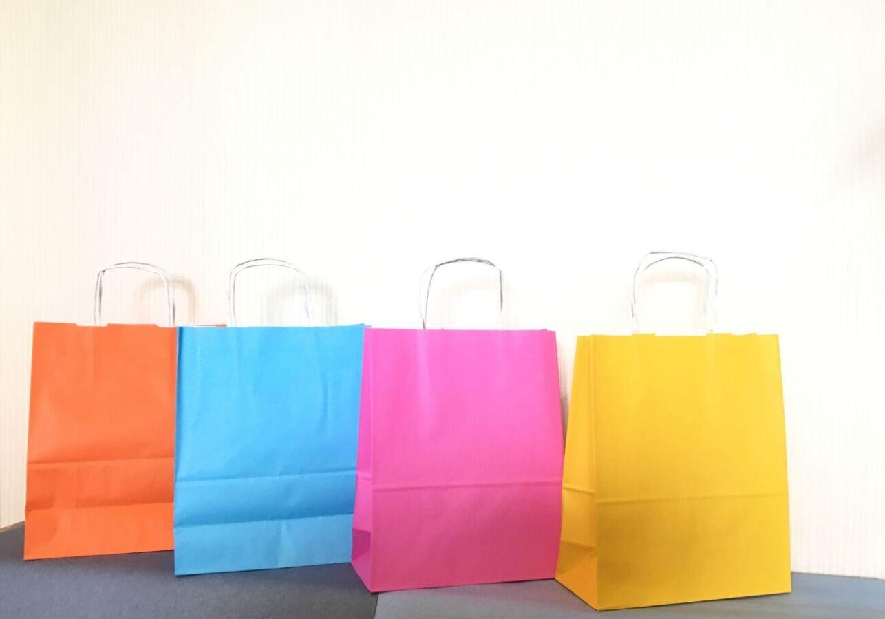Пакет крафт цветной 31х25х12