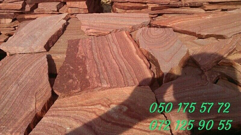 Камень дикарь красный обожженный