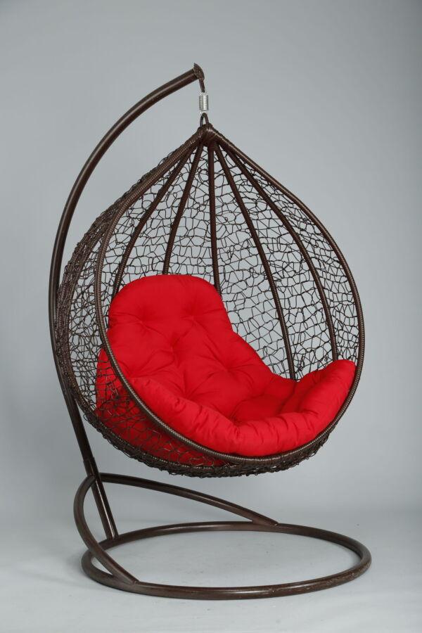 Подвесное кресло кокон плетёное из искусственного ротанга Big