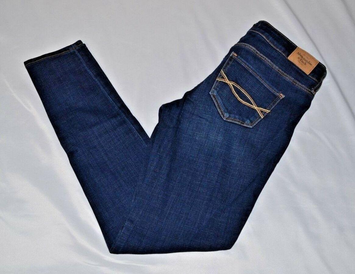 Брендовые темно-синие джинсы от Abercrombie & Fitch стрейч 4r (99-105